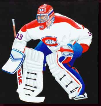 Sports Art NHL Hockey Art Paintings - Montreal Canadiens Artwork, Montreal Canadiens Paintings - Montreal Canadiens Goalie Paintings - Impenetrable