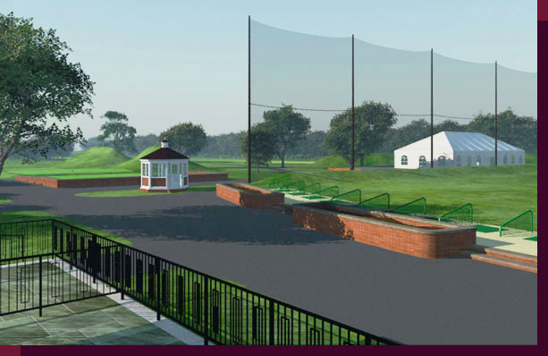 3d Rendering and modeling of Golf Courses - Marine Park Golf Course - New Starter's Hut and First Tee