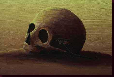 Surrealist Artwork Paintings, Surrealist Skull Paintings, Paintings of Skulls - The Dream of a World United Close-up - Click on Image to Return to Full View